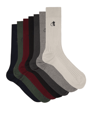 London Sock Company - Colour Bundle Pack Of Seven Socks - Mens - Multi