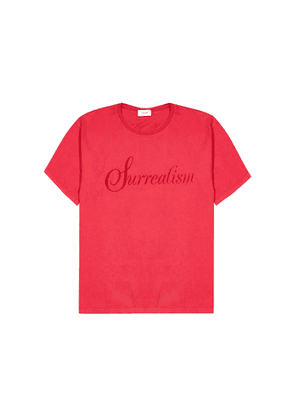 RHUDE Red Printed Cotton T-shirt