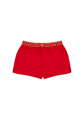 Versace Red Shell Swim Shorts