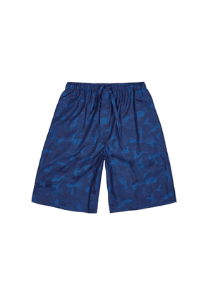 Derek Rose Paris 18 Navy Camoflauge Cotton Shorts