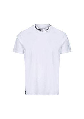 Alpha Industries Neck Print T White T-shirt