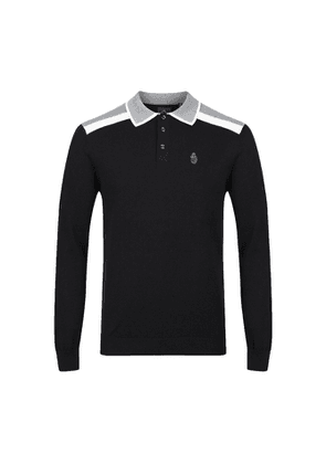 Luke 1977 Oh Yeah Oh Yeah Black Knitted Polo