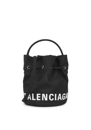 Balenciaga Wheel XS Black Canvas Bucket Bag