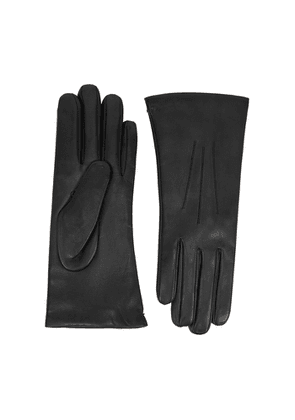 Dents Isabelle Black Leather Gloves