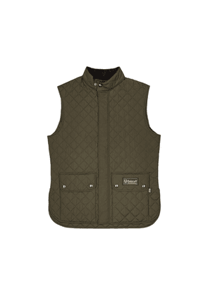 Belstaff Olive Quilted Shell Gilet