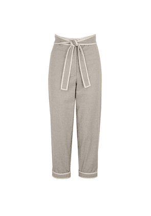 Stella McCartney Mabe Grey Tapered Wool Trousers