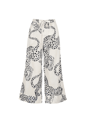 Desmond & Dempsey The Jag Printed Cotton Pyjama Trousers