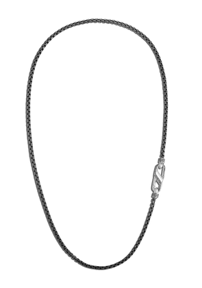 John Hardy Box Chain Blackened necklace - SILVER