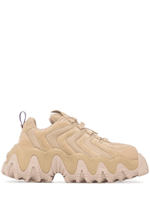 Eytys Halo chunky lace-up shoes - Neutrals