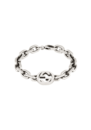 Gucci Sterling silver Interlocking G bracelet