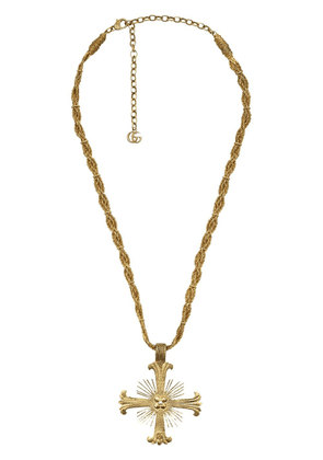 Gucci cross pendant necklace - GOLD