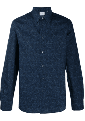 PS Paul Smith mountain print cotton shirt - Blue
