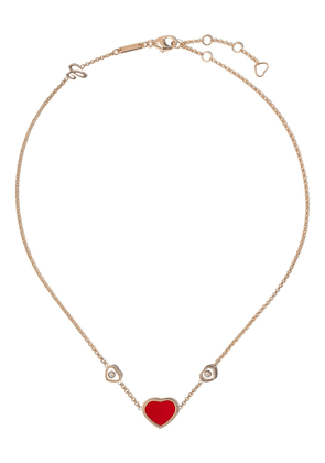 Chopard 18kt rose gold Happy Hearts necklace - PINK