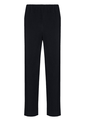 Homme Plissé Issey Miyake pleated-effect straight-leg trousers - Blue
