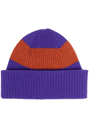 PS Paul Smith colour-block lambswool beanie - PURPLE