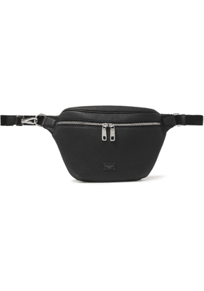DOLCE & GABBANA - Full-Grain Leather Belt Bag - Men - Black