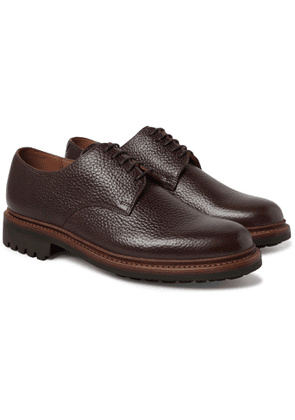 Grenson - Curt Full-Grain Leather Derby Shoes - Men - Brown