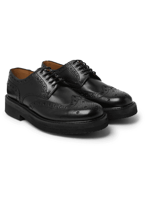 Grenson - Archie Leather Wingtip Brogues - Men - Black