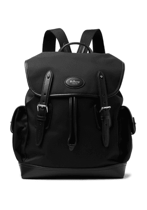 Mulberry - Heritage Leather-Trimmed Nylon Backpack - Men - Black
