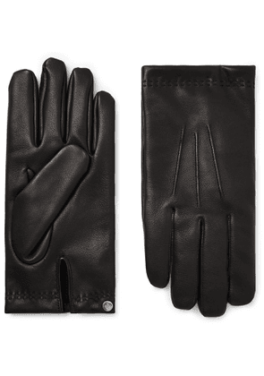 Mulberry - Cashmere-Lined Leather Gloves - Men - Black