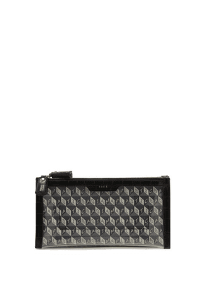 Anya Hindmarch - Filing Cabinet I Am A Plastic Bag Canvas Pouch - Womens - Grey Multi