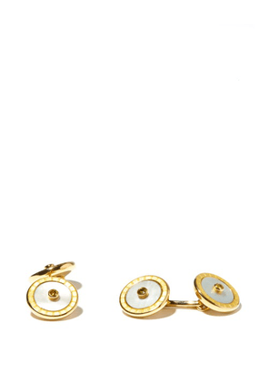 Deakin & Francis - Sapphire, Mother Of Pearl & 18kt Gold Cufflinks - Mens - Yellow