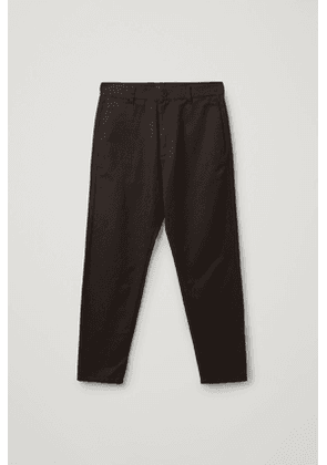 DROPPED CROTCH TAILORED COTTON CHINOS