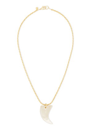 Alexis Bittar Gold-tone Stone Necklace Woman Beige Size --