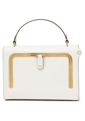 Anya Hindmarch Textured-leather Tote Woman Ivory Size --