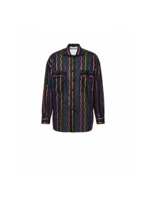 Wavy Stripes Light Cotton Shirt