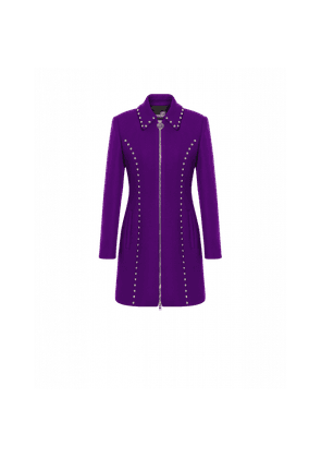 Wool Cloth Coat With Studs