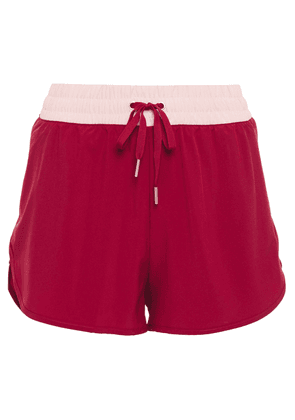 Iris & Ink Two-tone Stretch Shorts Woman Claret Size M