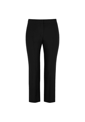 Alexander McQueen Black Cropped Slim-leg Trousers