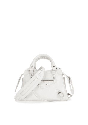 Balenciaga Classic City Mini White Leather Top Handle Bag