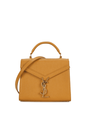 Saint Laurent Cassandra Mini Mustard Leather Top Handle Bag