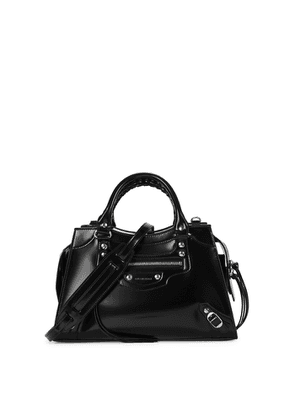 Balenciaga Classic City Small Black Leather Top Handle Bag