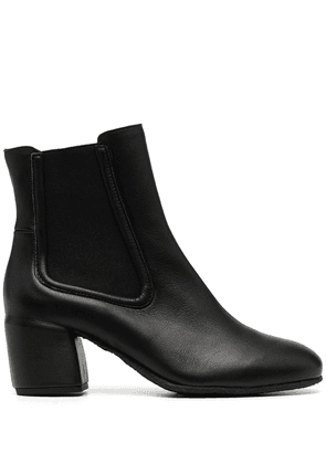 Del Carlo Fox leather ankle boots - Black
