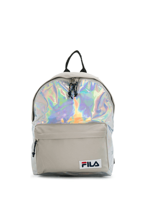 Fila holographic print backpack - SILVER