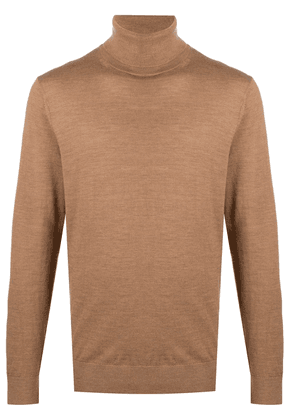 Michael Kors Collection roll-neck wool jumper - Brown