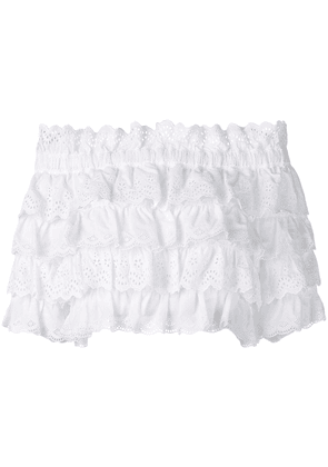 Dolce & Gabbana cropped frilled blouse - White