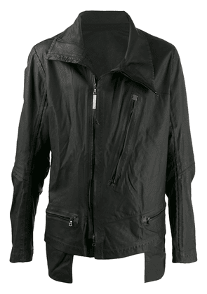 Isaac Sellam Experience zip-up leather jacket - Black