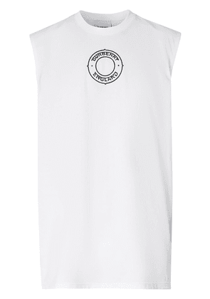 Burberry logo graphic print vest - White