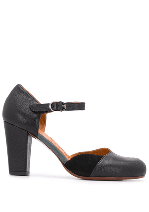 Chie Mihara 80mm contrasting panel pumps - Black