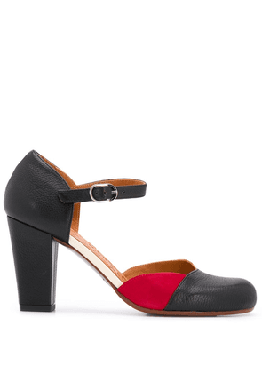 Chie Mihara 85mm contrasting panel pumps - Black