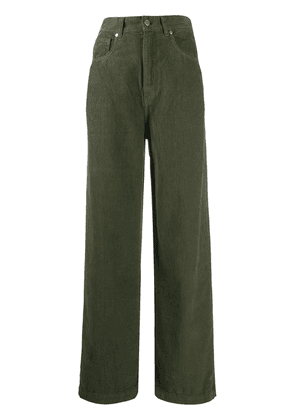 Essentiel Antwerp Whipped corduroy high-waisted trousers - Green