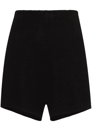 St. Agni elasticated waistband linen shorts - Black