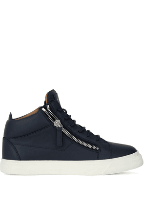 Giuseppe Zanotti Kriss high-top leather sneakers - Blue