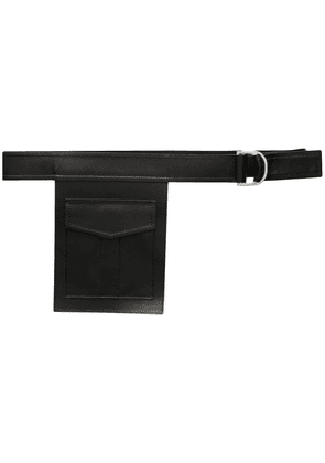 Erika Cavallini pocket detail belt - Black