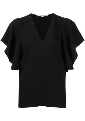 Stella McCartney Mallory bell-sleeves top - Black