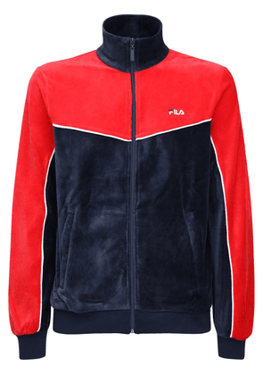 Zip-up Chenille Track Top